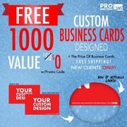 Get 1000 Free Business Cards Designed + Free Shipping use promo code